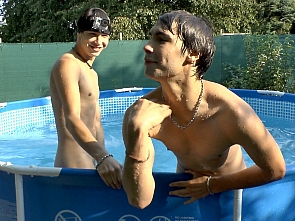Enjoy summer fun in the pool with Aston twins