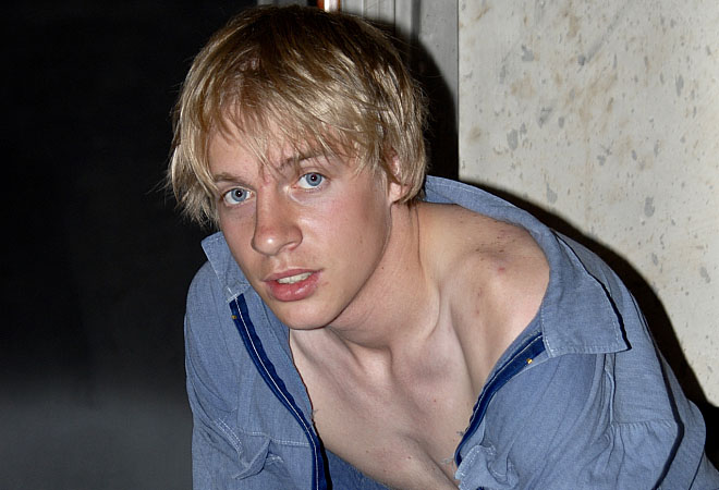 Cute Blond Twink -  Jerking off at Work