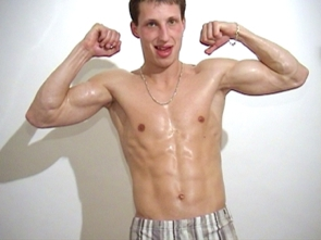 Jerking off and Flexing