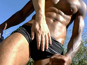 Muscle worship in the woods