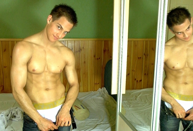 Cute boy on his webcam showing off his sexy body - Part2