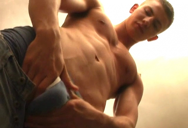 Hot guy solo action