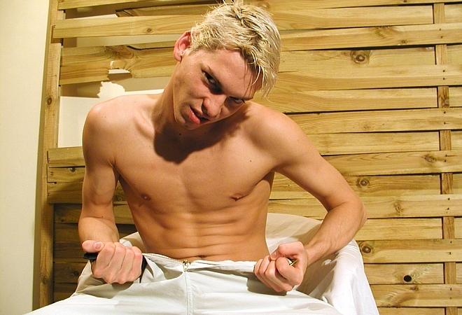 PL Studio - Blond Young Guy and Huge Cumshot