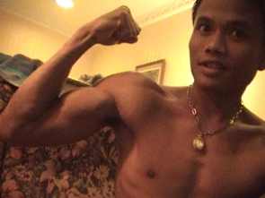 Angelo in Thailand - Flexing and Body Worship